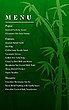 Bamboo Forest Menu Card