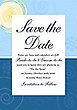 Sky and Sea Print Save The Date Card