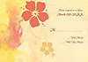 Antique Hibiscus Response Card