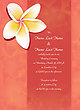 Beautiful Plumeria Invitation