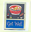 Get Well Saimin Greeting Card