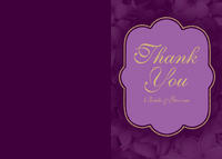 Elegant Plumeria Thank You Card