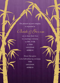 Golden Bamboo Invitation