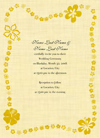 Playful Hibiscus Invitation