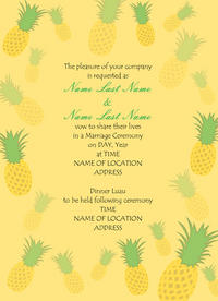 Dancing Pineapples Invitation