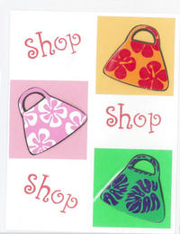 Shopping bags greeting card m4hsunfo