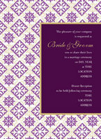 Diamond Hawaiian Quilt Invitation
