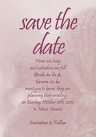 Sweet Orchid Save The Date Card