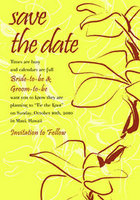Orchid Sketch Save The Date Card
