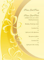 Golden Hibiscus Rainbow Invitation