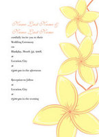 Graceful Plumeria Invitation