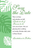 Monstera Border Save The Date Card
