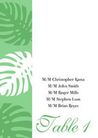 Monstera Border Table Tent Card