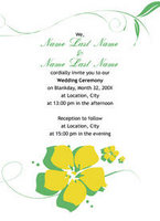 Hibiscus Duet Invitation