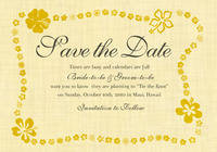Playful Hibiscus Save The Date Card