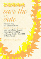 Lei Weave Save The Date Card