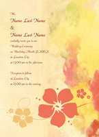 Antique Hibiscus Invitation