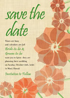 Orchid Sketch 3 Save The Date Card
