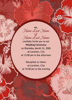 Hibiscus Print Invitation
