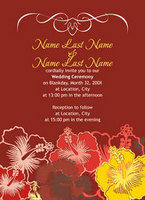 Festive Hibiscus Invitation