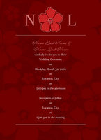 Hibiscus Monogram Invitation