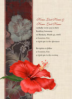 Hibiscus For You Invitation