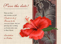 Hibiscus For You Save The Date Card
