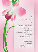 Alluring Orchid Invitation