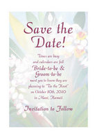Ginger Watercolor Save The Date