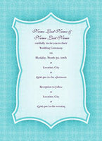 Elegant Print Tiffany Invitation
