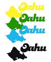 Oahu Island w/ Word 3 Laser Cut