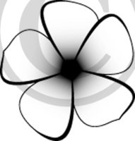 Tropical Illustration 32 Black & White Clip Art