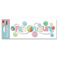 A Day At The Beach Fun In The Sun Title Sticker