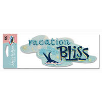 A Day At The Beach Vacation Bliss Title Sticker
