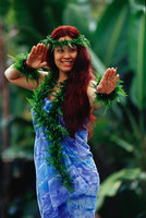 Hawaiian Hula Dancer Photo 10 Clip Art