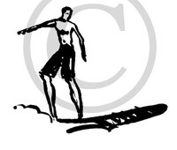 Hawaiian Surfer Clip Art 2