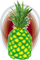 Hawaiian Pineapple 1 Clip Art