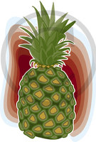 Hawaiian Pineapple 2 Clip Art