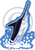 Hawaiian Marlin Fish Clip Art