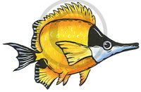 Hawaiian Fish Illustration Clip Art