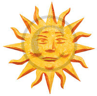Tropical Sun Art Clip Art