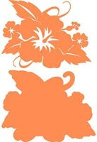 Hibiscus with Leaves Carrot on Carrot Laser Cut