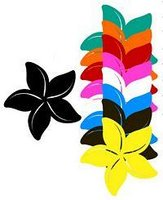 6 PK Mini Retro Plumeria 1.75 Laser Cut