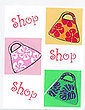 Shopping Bags Greeting Card