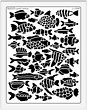 Fish Background Stencil