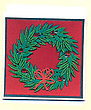 Lauae Christmas Wreath Greeting Card