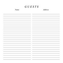 Classic 12x12 Guestbook Page