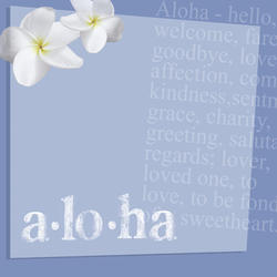 D11 Aloha By AR Fade Blue 8x8 Paper