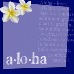 D12 Aloha by AR Deep Blue 8x8 Paper