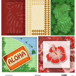D07 Aloha Set Journal Tags 8x8 Paper